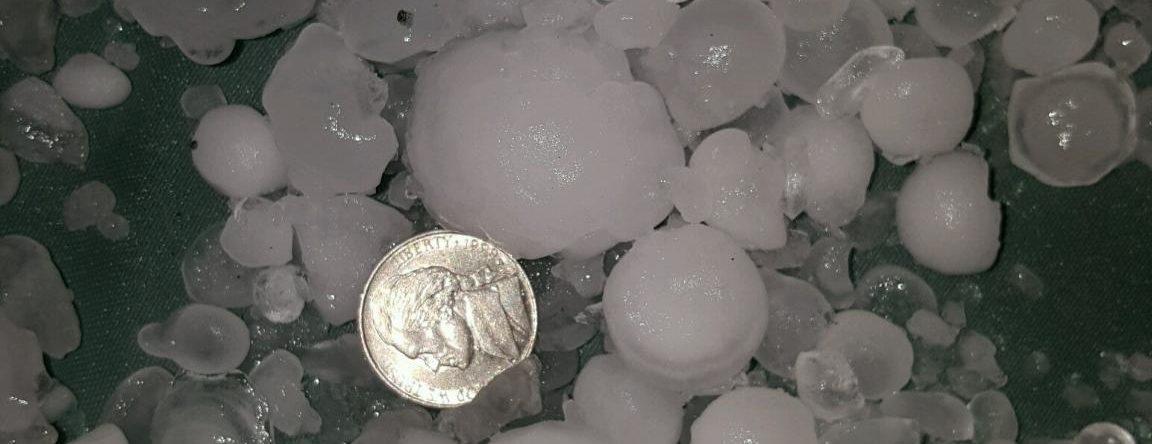 hail larger than nickel size