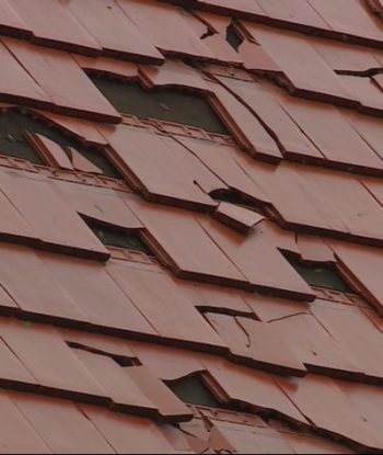 storm damaged shingles