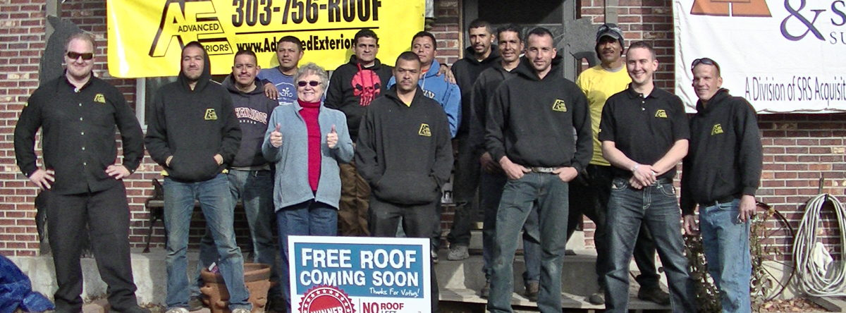 a home that got a free roof from our No Roof Left Behind Project