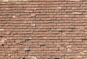 old asphalt shingled roof